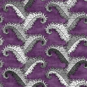 Silver Fern Stripe Purple