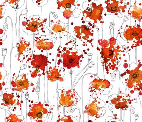 Poppysplashes fabric by juliesfabrics on Spoonflower - custom fabric
