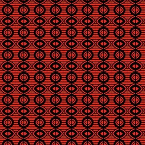 Bead Curtain Orange Black