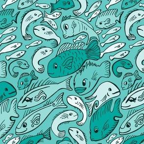 Fishy Fish Green