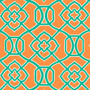 Moroccan_Lattice-_Orange___Teal_copy