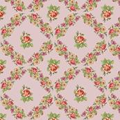 Shabby Pink Floral Vintage