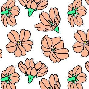Falling Flowers in Pink