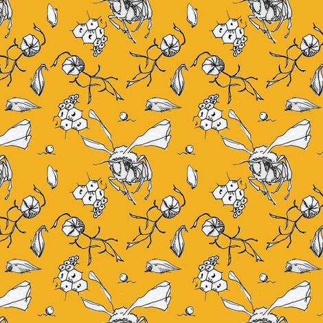Happy As Can Bee fabric by sparegus on Spoonflower - custom fabric