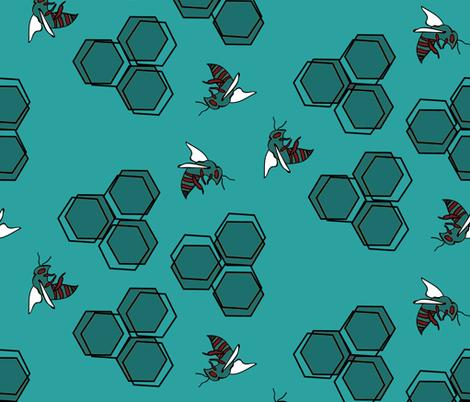 Apian Honey Comb - Rogue Colorway fabric by arwenartanddesign on Spoonflower - custom fabric