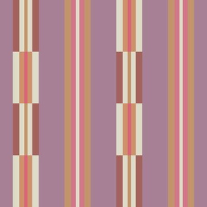 Smooth and broken terracotta twilight vertical stripe by Su_G