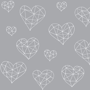 Geometric hearts greyling