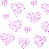 Geometric hearts candyfloss