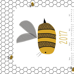 2017 bee tea towel calendar