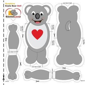 Sunshine Koala Bear Cut & Sew Doll