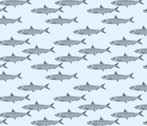 pilchards fabric by ruth_robson on Spoonflower - custom fabric