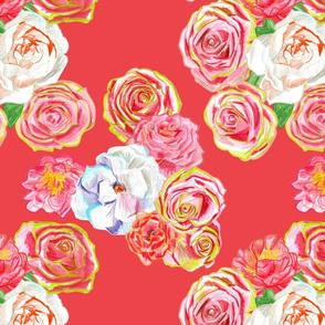 Ferocious Rose Fabric