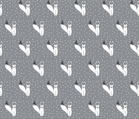Foxywhite2 fabric by ana_williams on Spoonflower - custom fabric