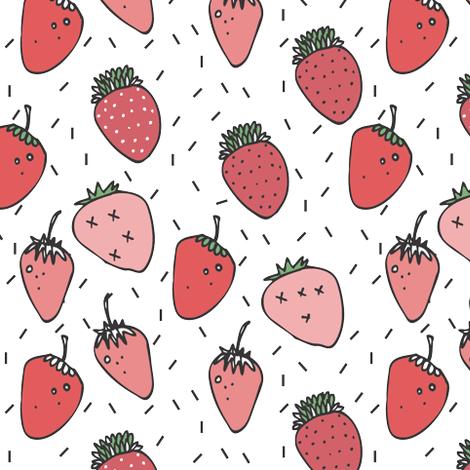 sweet berries & sprinkles - elvelyckan fabric by elvelyckan on Spoonflower - custom fabric