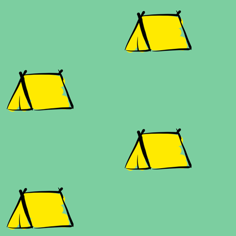 Camping is inTENTS fabric by cozyreverie on Spoonflower - custom fabric