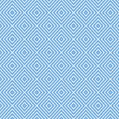Blue and white diamond tiles