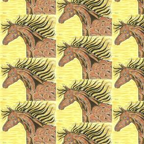 TRIBAL HORSE YELLOW