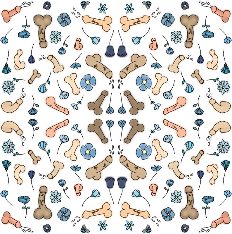 Penis Print Wallpaper Lillybold Spoonflower