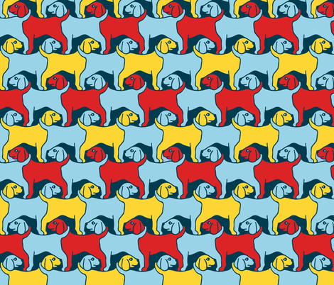 Nautical Dogs Smaller fabric by elramsay on Spoonflower - custom fabric