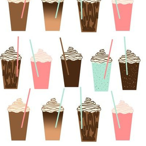 Iced Coffee - cute summer iced coffee pastel girly drinks