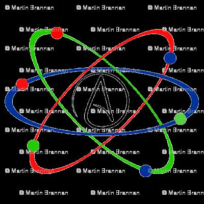 Atheism Atomic Symbol Wallpaper Marrtybdesigns Spoonflower