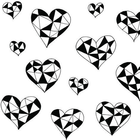 Rgeometric_hearts_bw_fill_shop_preview