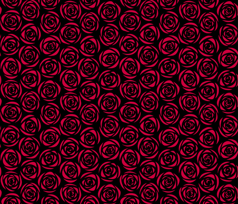 ROSE_red fabric by asia_jachnik on Spoonflower - custom fabric