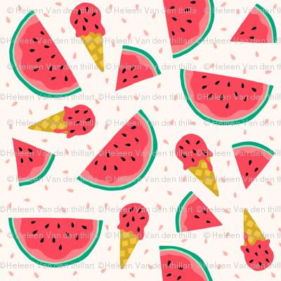 Watermelon summer ice cream party