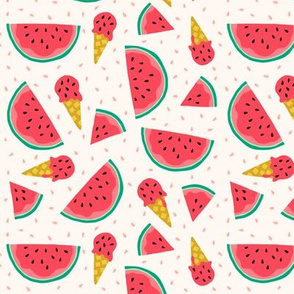 Watermelon summer ice cream party