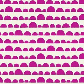 Llama half circles pink