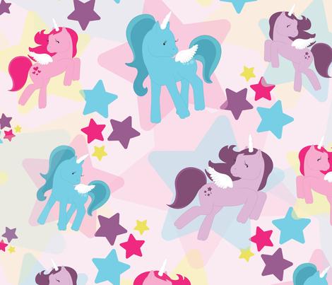 Bright Ponies fabric by soooocharming on Spoonflower - custom fabric