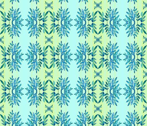 azure leaves  fabric by valeriakondor on Spoonflower - custom fabric