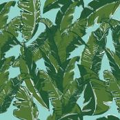 Leaves Bananique in Aqua Sea