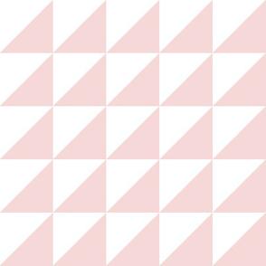 white pale pink half triangle