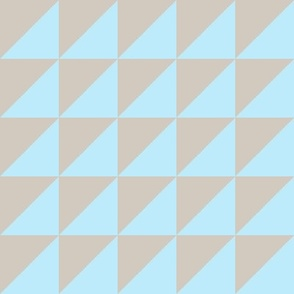 tan baby blue half triangle