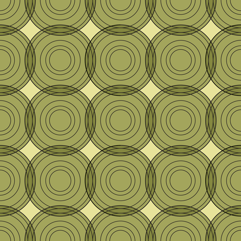 Green Circles fabric by johannak on Spoonflower - custom fabric