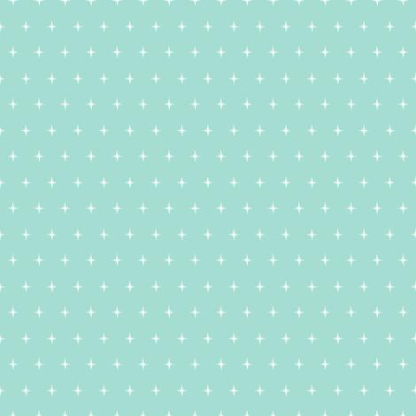 Mint Coraldition-Mint Bursts fabric by halloweenhomemaker on Spoonflower - custom fabric