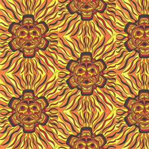 Tribal Sun Face