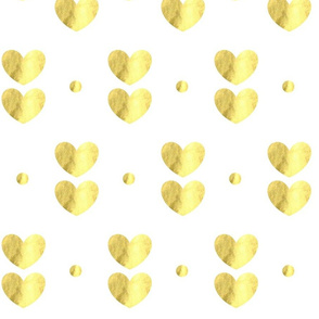 Hearts of Gold and Dots