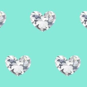Diamond Heart Sea Foam
