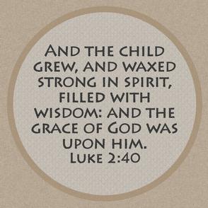 Luke 2:40 Baby Bible Verse
