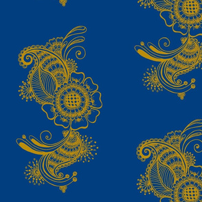 KMB Blue Yellow Floral