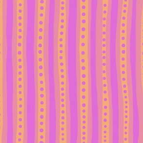 Stripes in pink and orange