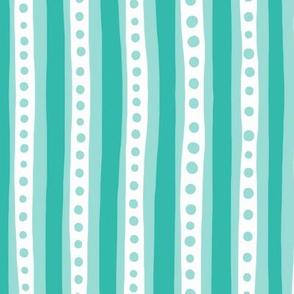 Stripes in turqoiuse and white