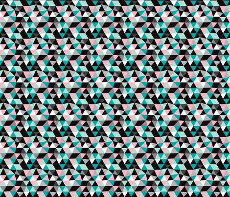 Pastel modern geometric triangle pattern SMALL fabric by littlesmilemakers on Spoonflower - custom fabric
