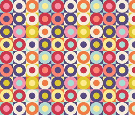 Pop Donuts - Spring Cheater Quilt fabric by elramsay on Spoonflower - custom fabric