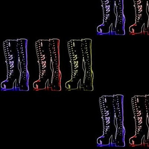 Suga Lane Goth Boots Neon Black #1