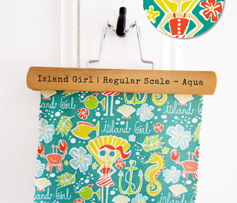 Island Girl - Nautical Summer Aqua - Regular Scale