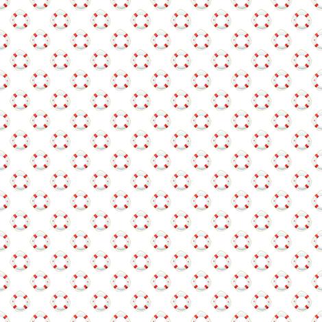 Preppy Preserver White fabric by littlerhodydesign on Spoonflower - custom fabric