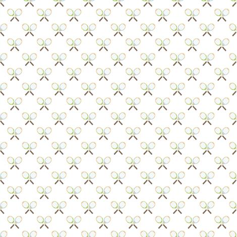 Preppy Racquet White fabric by littlerhodydesign on Spoonflower - custom fabric